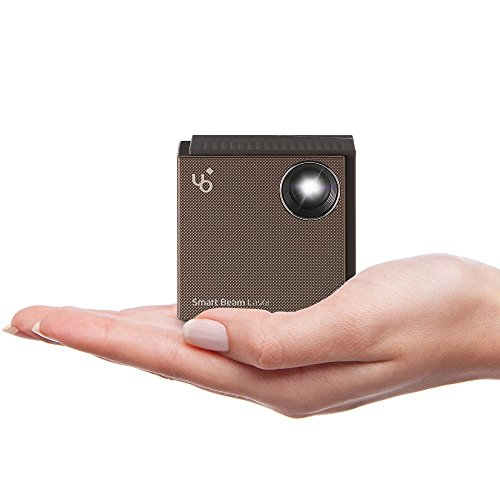 UO Smart Beam Laser, Video Projector 150 Inch Display 2 Inch CUBE Portable Mini FDA Class 1 Eye Safe Laser Projector, Smartphone Tablet Mirroring HDMI support devices PC Laptop Gaming Consoles Roku by KDCUSA.