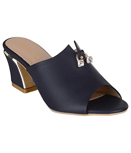 72f9562f39d Shuz Touch Synthetic Women Fashion Sandal Navy-38: Buy Online at Low ...