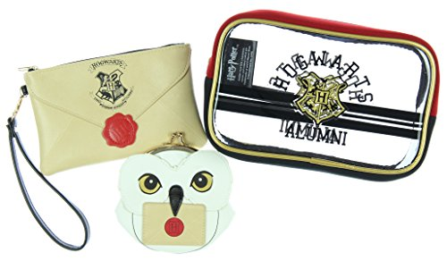 Harry Potter Hogwarts Alumni Jrs. Gift Set Makeup Case, Zip Wallet & Coin ()