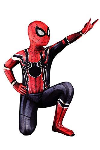 Unisex Kid Halloween Costume Iron Spidey Onesie Skin Tight Bodysuit Unitard,for Height 110cm -