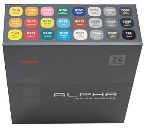 Alpha EF 24 Grafikmarker 24er Main Set Box Design Marker ()