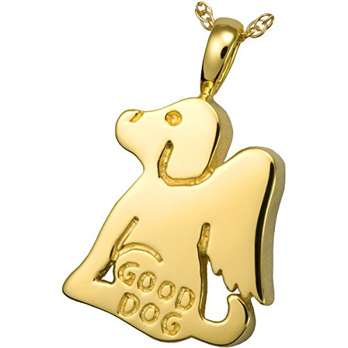 gold-Plated Sterling Silver Memorial Gallery Pets 3200gp Good Dog 14K gold Sterling Silver Plating Cremation Pet Jewelry