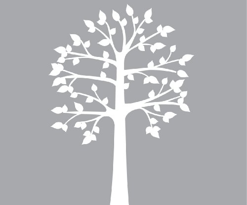 Shelf Tree Wall Decals, Vinyl White Tree Wall Decal, Perfect for Shelves or - 89 Textured Matte