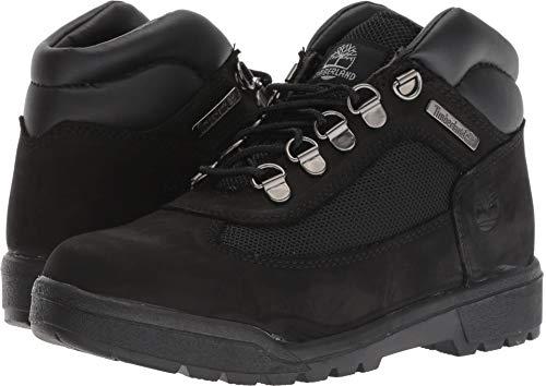 Timberland Kids Unisex Fabric/Leather Field Boot (Big Kid) Black Waterbuck Nubuck 7 M US Big - Nubuck Field Boots