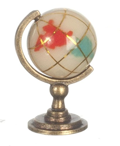 Dollhouse Miniature 1:12 Scale Marble and Copper Globe #G8026