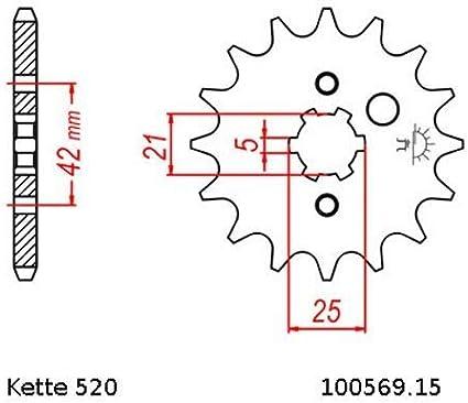 Kettensatz Geeignet Für Yamaha Xt 250 Se 80 90 Kette Rk 520 H 98 Offen 15 46 Auto