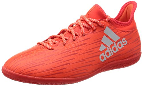 adidas Herren X 16.3 in Fußballschuhe, Orange (Solar Red/Silver Metallic/Hi-Res Red), 44 EU