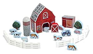 Melissa & Doug Farm Blocks 36-piece Play Set