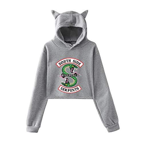 South Tunica Maglione orecchio Hooded Hop Cappotto Maglione Shirt 03 con Colore Hip Pullover Snake Camicetta Riverdale Top Cat Felpa Side Top Maglione g8wqYgdO