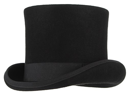 Gemvie Men's Wool Felt Stage Magic Adults Costume Tall Top Hat 6.7
