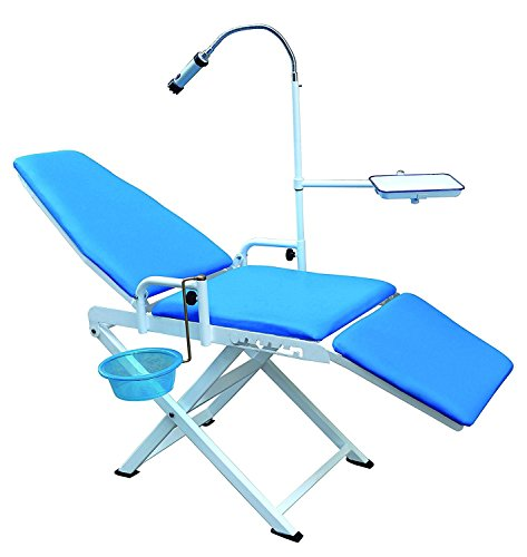 Portable Dental Chair Cold Light Cuspidor Tray Dentistry Equipment Mobile Unit by Dental Market