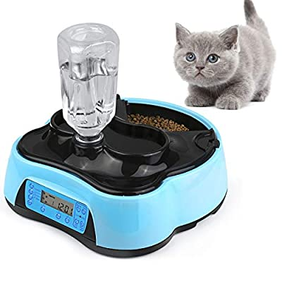 Automatic cat feeder Xuliyme Automatic Cat Feeder Auto Timed Pet Food Dispenser Feeder... [tag]