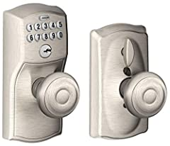 No more keys to hide, lose, carry or forget. Keypad levers offer keyless access and provide maximum security protection to make your life more convenient. Install and program in minutes with no Wiring required. Backlit, simple keypad layout i...