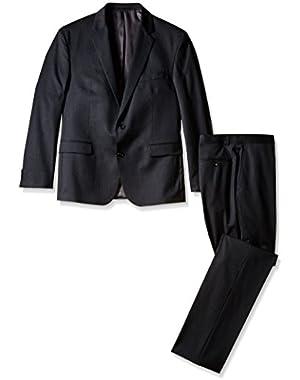 Men's Slim Fit 2 Button Side Vent Suit, Charcoal, 44 Short