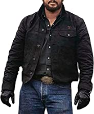 Yellowstone Cowboy Cole Hauser Stylish Cotton Jacket in Black Color for Men
