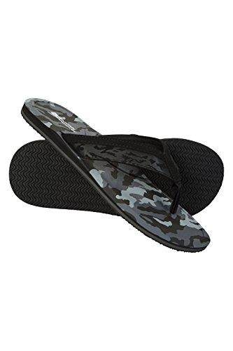 Mountain Warehouse Camo Flip Flops - Lightweight Summer Sandals Black Camo 89DZS