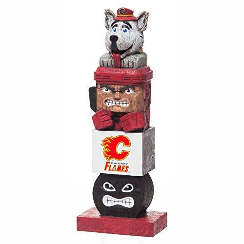 Evergreen NHL Calgary Flames FigurineTiki Totem, Team Colors, One Size (Calgary Shops Outdoor)