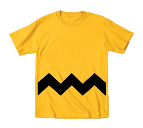 Charlie Brown Stripe Costume Toddler Toddler Shirt 2T Gold (Charlie Brown Infant Costume)