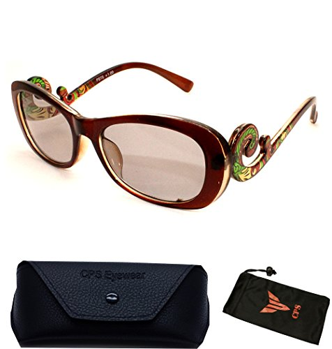 Women Fashion Designer All-In-One Sunglasses + Reading Glasses with FREE Hard Case(Strength: - In One All Sunglasses