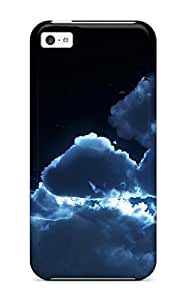 Snap-on Cloudy Night Sky Case Cover Skin Compatible With Iphone 5c