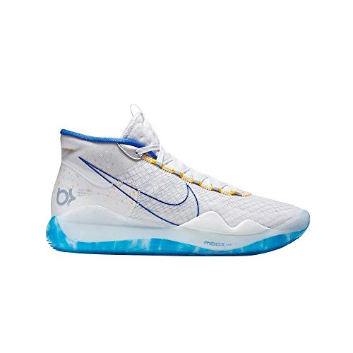 Nike Zoom KD 12 Basketball Shoes (M10.5/W12, White/Royal Blue)