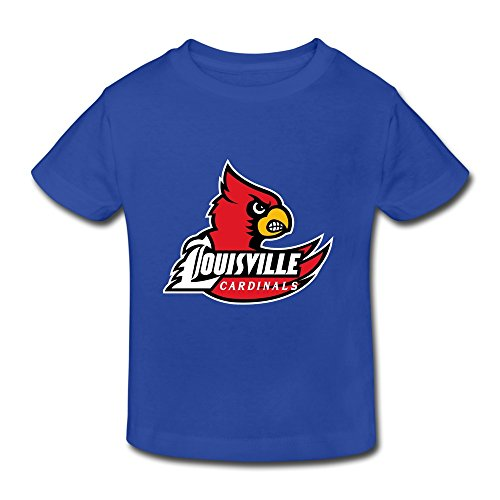 RoyalBlue Ambom Louisville Cardinals Little Boys Girls 100% Cotton T Shirt For Toddler Size 2 - Shops Dress Louisville