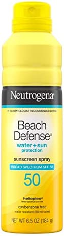 Neutrogena Beach Defense Sunscreen Spray SPF 50 Water-Resistant Sunscreen Body Spray with Broad Spectrum SPF 5