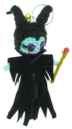 [Maleficent Sleeping Beauty Voodoo String Doll Keyring Keychain] (Maleficent Angelina Jolie Costume)