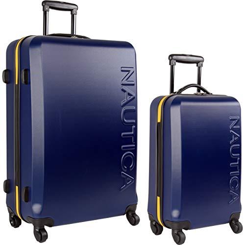 Nautica Ahoy Hardside Expandable 4-Wheeled Luggage, Navy/Yellow