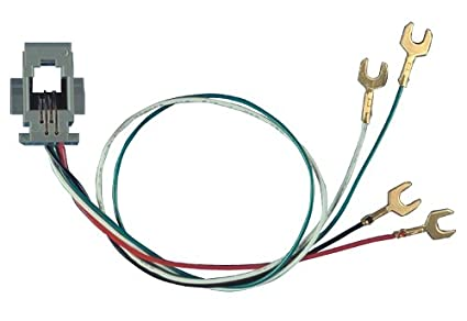allen tel at616w modular telephone outlet jack with 4 wire, 4 position,  handset cord