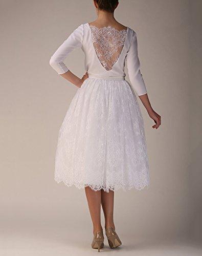 Izanoy Damen Spitze Tüll Röcke Tutu Petticoat Unterrock Prinzessin Petticoat Elastic Bund Weiß cqId2kLt7k