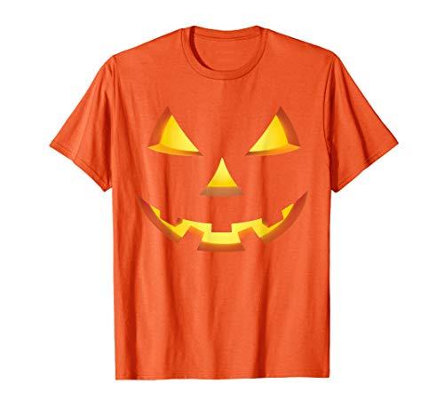 Spooky Halloween Jack-o-lantern Face Costumes  T-Shirt -