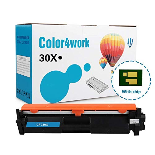 Color4work Compatible Toner Cartridge Replacement for HP 30X 30A CF230A CF230X High Yield Black, 1-Pack, use with HP 32A CF232A Imaging Drum