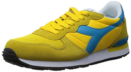 Diadora Men's Camaro Running Shoe (9 B(M) US, Aspen Gold / Ocean) - Camaro Cross