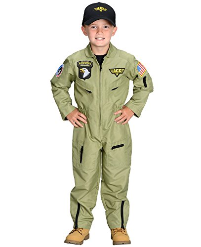 Aeromax Jr. Fighter Pilot Suit with Embroidered Cap, Size - Usa Store Pilot