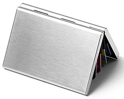 hbie travel wallet card holder stainless steel rfid blocking slim wallet credit card holder - Metal Business Card Case