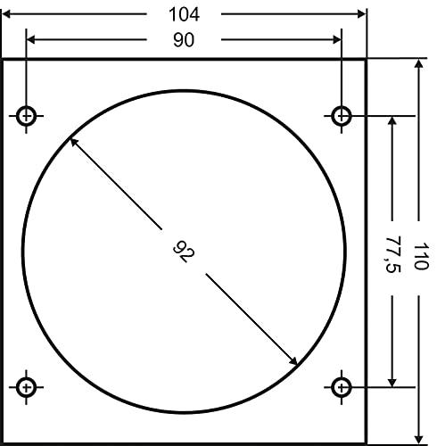 as - Schwabe CEE-Caravan-Einspeisungsstecker – 230 V / 16 A Outdoor Anbau-Stecker mit Klappdeckel – 3-poliger Stecker…