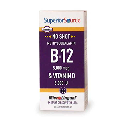 Superior Source Methyl B12 and Vitamin D3 5000 IU Multivitamins, 5000 mcg, 100 Count For Sale