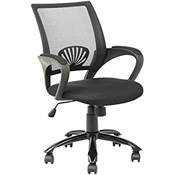 Mid Back Mesh Ergonomic Computer Desk Office Chair, Black, One Pack