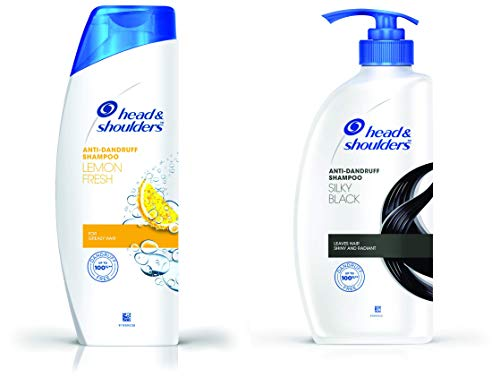 Head & Shoulders Lemon Fresh Anti Dandruff Shampoo, 340ml And Head & Shoulders Silky Black Anti Dandruff Shampoo 650 ML