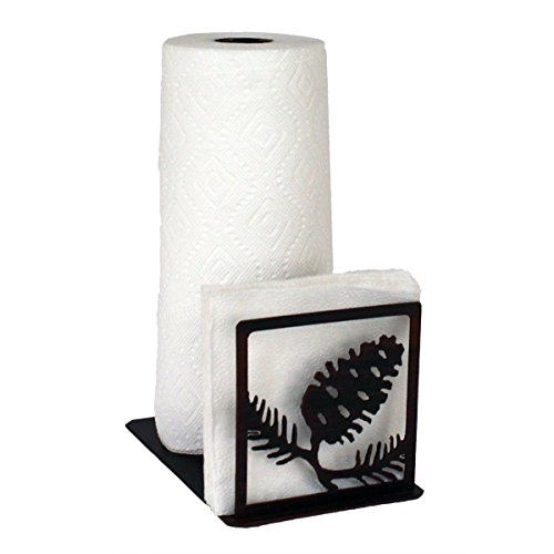Iron Pinecone Short Paper Towel/Napkin Holder (Pinecone Napkin Holder)