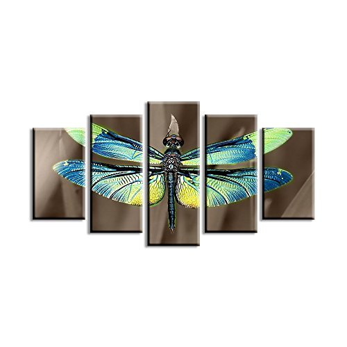 Flim Beauty Canvas Print Painting Colored Dragonfly Wings Painting on Canvas for Room Decor Wall Art Combination Picture Print Poster