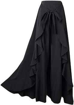 ZORE 🎀 Falda Larga Negra,Falda Larga para Mujer Vestido Casual ...