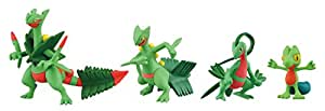 "Takaratomy Pokemon XY Monster Collection Mega Evolution Sinker 2"" Mega Sceptile Action Figure Pack (4 Piece)"