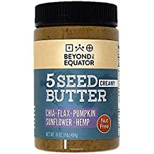 Beyond the Equator 5 Seed Butter - Nut-Free, Allergen-Friendly, Omega-3, and Non-GMO - 16oz