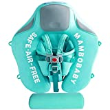 V Convey Newest Add Tail Never Flip Over Start 2019.12.22 Mambobaby Non-Inflatable Float Swim Trainer Infant Relaxing Solid Swimming Ring Children Waist Float Ring Pool Floats Swim Ring