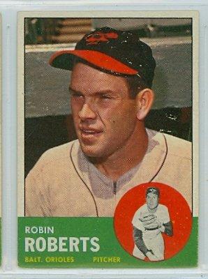 1963 Topps #125 Robin Roberts Baltimore Orioles Baseball Card