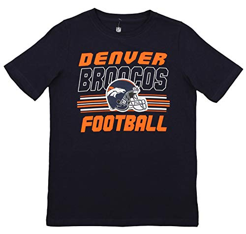 - Outerstuff NFL Youth (4-18) Team Color Short Sleeve Tee, Denver Broncos X-Small (4-5)