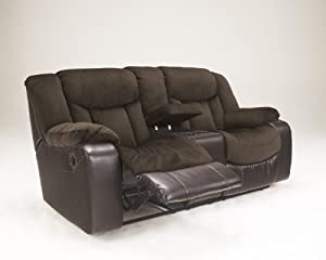 Tafton Java Fabric And Faux Leather Double Reclining Loveseat With Console & Amazon.com: Tafton Java Fabric And Faux Leather Double Reclining ... islam-shia.org