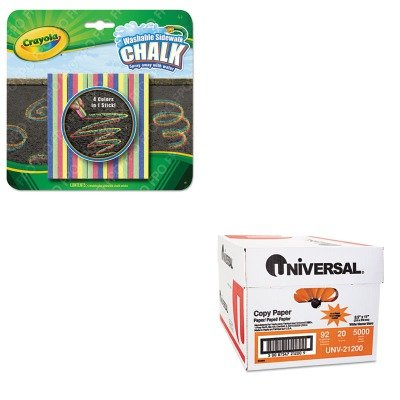 KITCYO514105UNV21200 - Value Kit - Crayola Washable Sidewalk Chalk 4 Colors in 1 (CYO514105) and Universal Copy Paper (UNV21200)